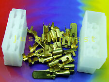 Kabelschuhe KIT 8 polig/way Flat plug / Flachstecker KIT + Gehäuse / Case  #A434
