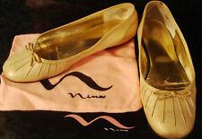 NINA SHOES FLATS WHARTON WHITE GOLD 7 M w/ BOX