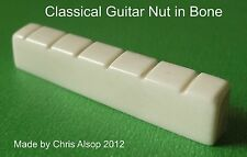 Classical Guitar Bone Nut. Carved to your size 43 to 53mm wide Left/Right. PN003