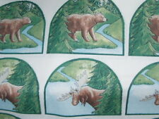 1 fabric panel with 18 Grab-it pieces - BEAR and MOOSE, design #3