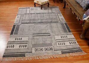 Cotton Darries Hand block Printed Area Rugs Handmade living Room Rug Yoga Rugs
