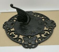 Cast Iron Sun Dial with Butterfly