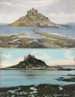 TWO   ST  MICHAEL'S  MOUNT   Postcards       ,   CORNWALL   ( ZA 5 )