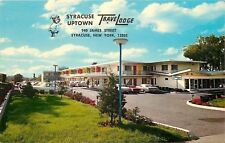 Syracuse New York~Uptown TraveLodge~1950s Cars in Well=Lit Parking Lot