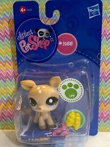 Authentic Littlest Pet Shop 1955 NIB New Tan Brown Fawn Spotted Deer Euro