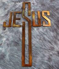 Jesus Cross Metal Wall Art