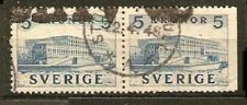 Sweden Sc 322   PAIR SETENANT   used  Yv 289a  €200   VF
