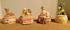 Lot of 4 Melodies Country Fair Collection Music Trinket Boxes