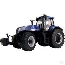 """Marge MODELS NEW HOLLAND T8.4358 """"Bleu"""" Puissance Tracteur échelle 1:32 Modèle Cadeau Jouet"""