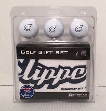 New In Box Columbus Clippers Golf Gift Set, Towel & 3 Golf Balls