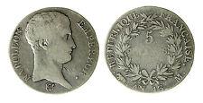 pcc1840_14) Empire Française Napoleon Bonaparte 5 Francs l' AN 13 M
