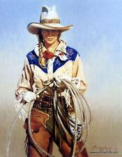 Terri Kelly Moyers With Attitude Cowgirl Print 19 x 24