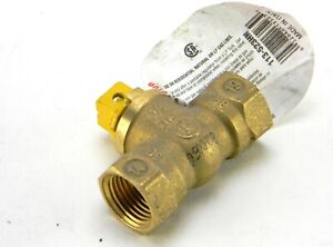 10 Mueller ProLine 113-523HN 1/2 in. Brass FIP x FIP Square Head Gas Ball Valve