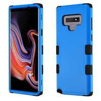 NEW For Samsung Galaxy Note 9 Black Blue Tuff Impact Rugged Protector Cover Case