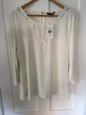 Lauren by Ralph Lauren. Nodrine 3/4 Sleeve T Shirt. Medium. Pearl. BNWT