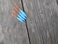 HANDMADE POLE FLOATS PROFLOATUK 'EVO' WIRES X 10 FLOATS SHORT TIP .15MM 1.5MM