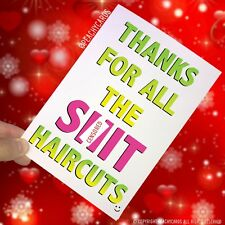 MERCI POUR TOUTES LES S IT coupes de cheveux drôle Salon de coiffure carte