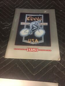 Coors International Bicycle Classic 1981 Magazine W/ Poster COORS CLASSIC NOS