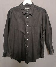 Croft and Barrow Men's XL long sleeve button front black shirt