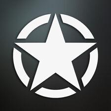 US Army STAR Sticker / Aufkleber / Tuning / JDM / Auto / Motorrad (Weiß)