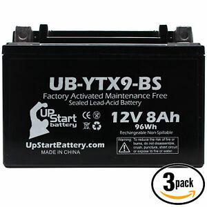 3X 12V 8Ah Battery for 2005 Suzuki LT-Z400 Quadsport 400CC