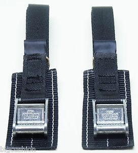 2-pack of 1.0m STRONG PADDED Cam Buckle Straps Black - Luggage, Fastening Belt