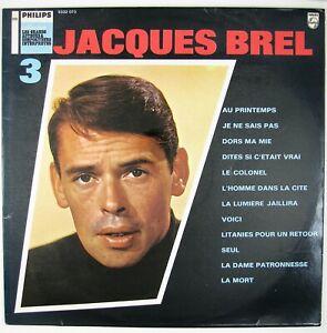 JACQUES BREL Jacques Brel No. 3 LP 1966 CHANSON NM- NM-