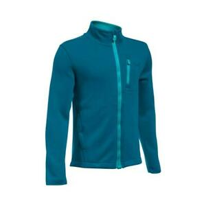 Boys Under Armour UA Storm Granite Water Repellent Full Zip Soft Knit Jacket