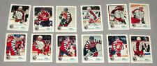 NHL 1992-93 Kraft Singles Full Hockey Cards Set 12/12