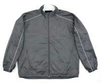 ZORREL Men's Jacket  Lightweight  Windbreaker Lined  Full Zip SIZE Large GRAY