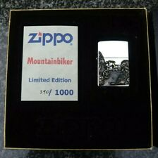 ZIPPO, MOUNTAINBIKER, HANDMADE, 900 SILVER, LIMITED EDITION ((EXTREMELY RARE))