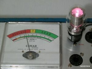 Conar 224 Tube Tester + Manual & Charts, Repaired & Calibrated, Works Well