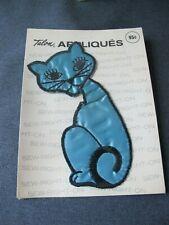 Vintage 1971 Talon Appliques large embroidery cat kitten sealed