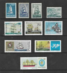 HICK GIRL- MINT ARGENTINA STAMPS    VARIOUS SHIP ISSUES       T243