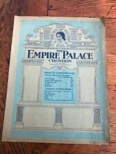 More details for the empire palace croydon ! 1927 programme