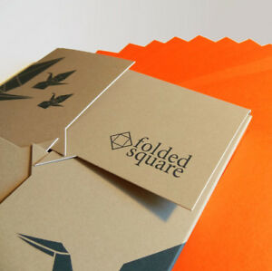 Orange Origami Paper   100 Sheets, 15cm Square   Pantone 021