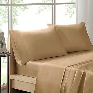 300TC Liquid Cotton 100% Pima Cotton KING Sheet Set - Khaki