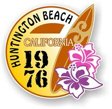 Retro Surf board Surfing Huntington Beach CALIFORNIA 1976 Car Camper van sticker