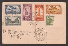 "1931/31/09 Maroc ""Postes Aerien"" EXPO COLONIALE PARIS ON ""Eiffel Tower"" PPC."
