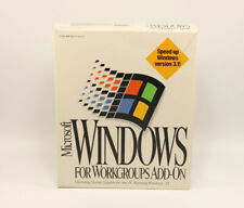 Microsoft Windows For Workgroups Add-On 1994 Upgrade Windows 3.1
