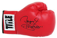 Manny Pacquiao Signed Title Red Boxing Glove - BECKETT