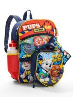 Paw Patrol School Backpack Lunch Box Book Bag 5 Piece SET Kids Gift Boy Girl New