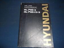 HYUNDAI HL740-9 HL740XTD-9 WHEEL LOADER PARTS BOOK MANUAL