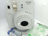 Fujifilm Instax MINI 9 Film Instant Camera - Smoky White & 10 shots Film Pack