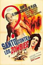 SANTO CONTRA LOS ZOMBIES Movie POSTER 27x40 Spanish