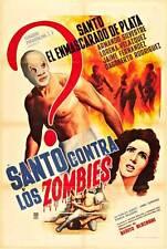 SANTO CONTRA LOS ZOMBIES Movie POSTER 27x40 Spanish