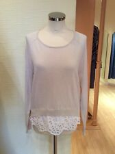 Oui Sweater Size 12 Beige With White Trim BNWT RRP £109 Now £22