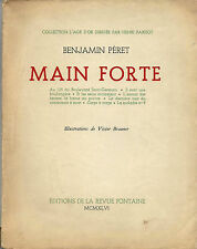RARE EO N°  BENJAMIN PÉRET + VICTOR BRAUNER : MAIN FORTE