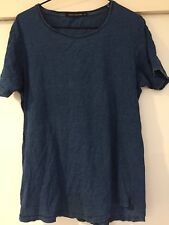 French Connection Men's Blue T Shirt Polkadot Print Size M Good Condition
