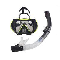 Adult Swim Diving Scuba Anti-Fog Goggles Mask & Snorkel Set Swimming Equipment